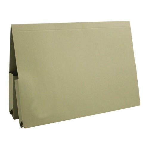 Bomford Double Pocket Wallets Foolscap Green