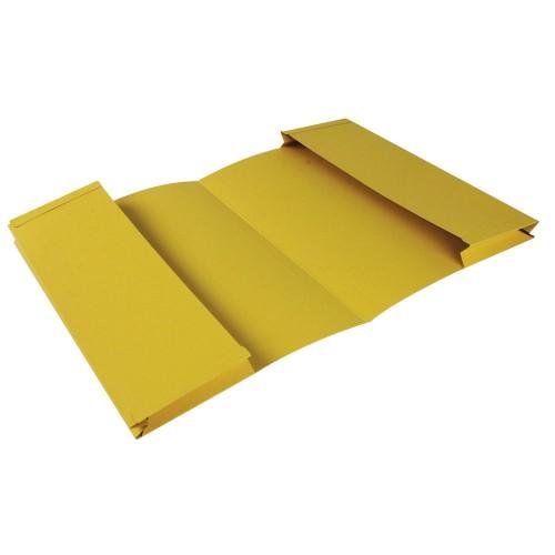 Bomfords Double Pocket Wallet Manilla Foolscap Yellow