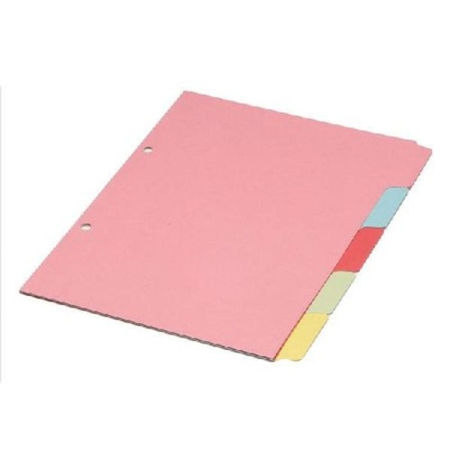 Dividers Multi-Colour A4 5-Part Manilla