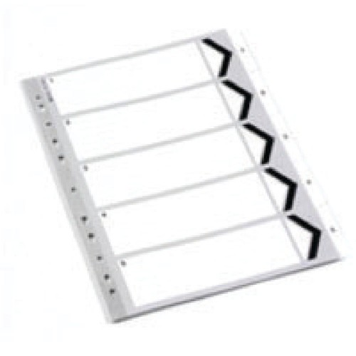 Dividers White A4 1-5 Polypropylene