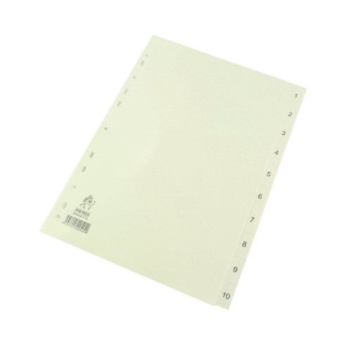 Dividers White A4 1-10 Polypropylene