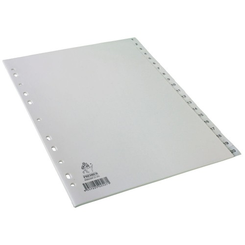 Dividers White A4 1-20 Polypropylene