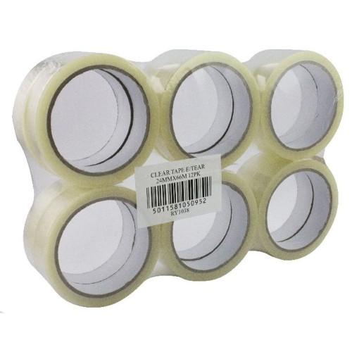 Clear Tape 24mmx66m PK12