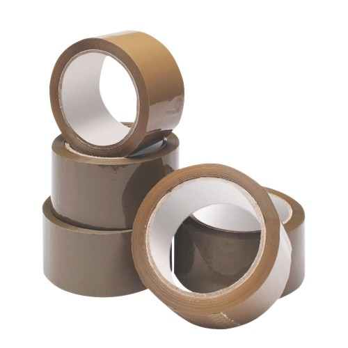 Packaging Tape Buff / Brown 48mmx66m Pk6