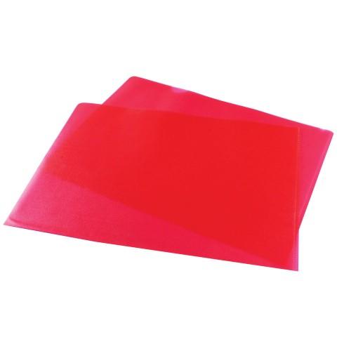 A4 Red Cut Flush Folders Pk100