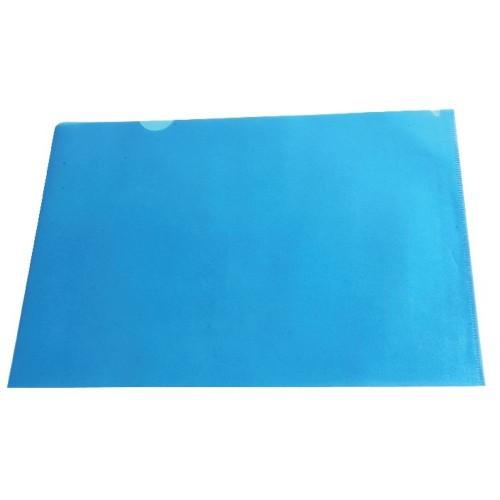 A4 Blue Cut Flush Folders Pk100
