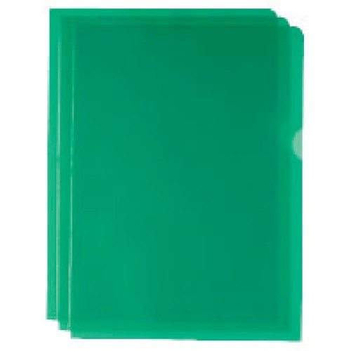 A4 Green Cut Flush Folders Pk100
