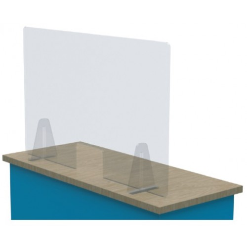 Defender Free Standing Acrylic Screen with cut out. 600 x 1800