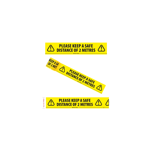 Adhesive Tape 'keep your distance'  50mm x 33m