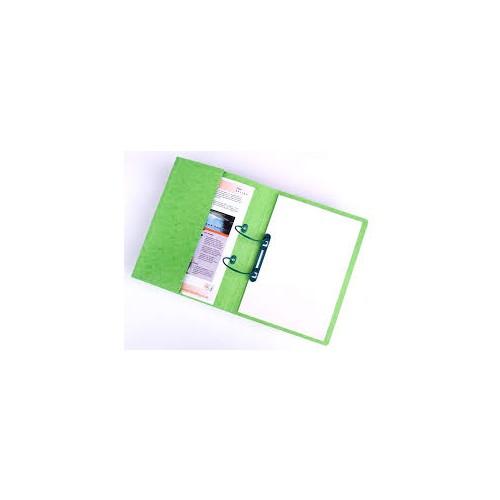 Railex Polifile with Pocket 346gsm Foolscap Emerald PL5P 3 Pk25