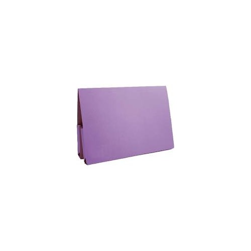 Bomford Double Pocket Wallets Foolscap Purple