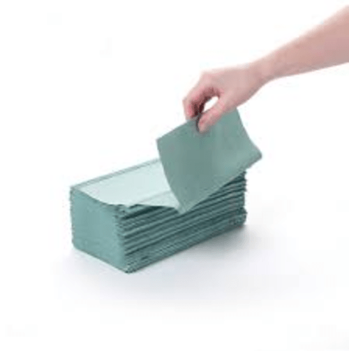 Hand Towel Interfold 1ply Green (Case 3600)