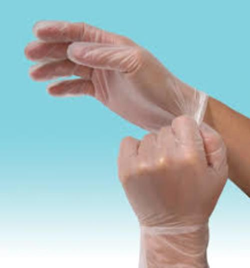 Vinyl Gloves Clear P/F Small Bx100