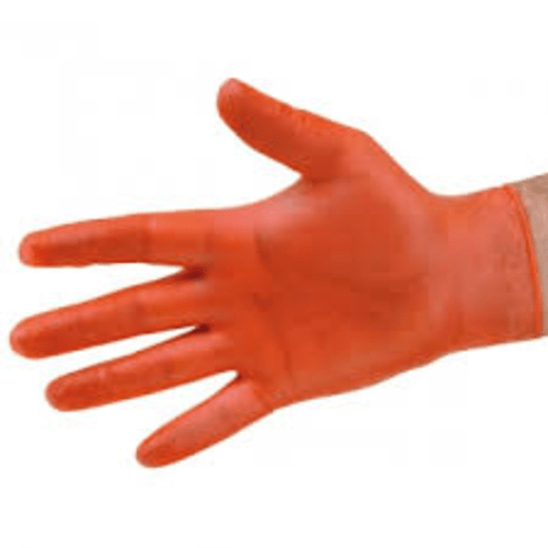 Vinyl Disposable Gloves Red Size Small