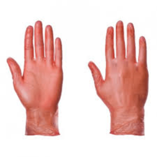 Vinyl Disposable Glove Red Size Large
