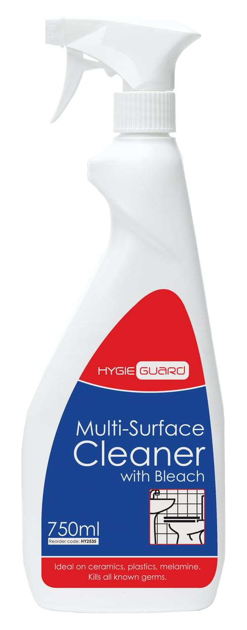 Hygieguard (Greyland) Multi Surface Cleaner with Bleach 750ml