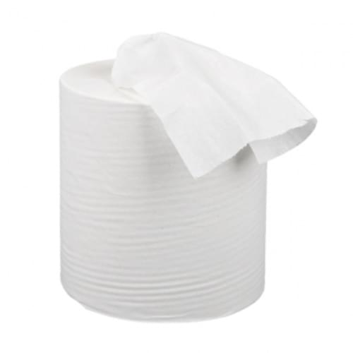 Envirotex 2 ply White Embossed Centre Feed Rolls
