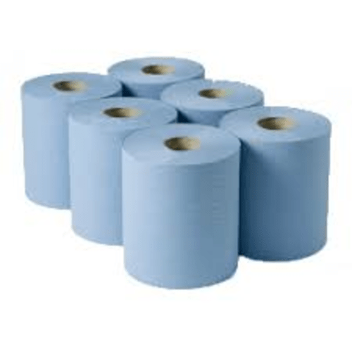 Centre Feed Roll 2ply Blue 125m