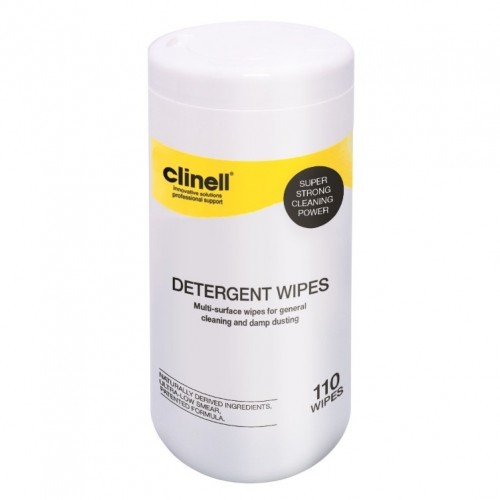 Clinell Detergent Wipes Tubs 110