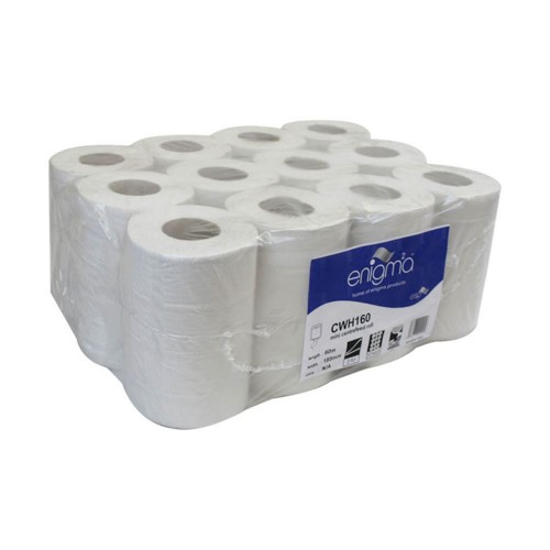 White Mini Centre Feed Roll 2ply 80M