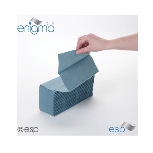 Hand Towel Blue M-Fold 1ply
