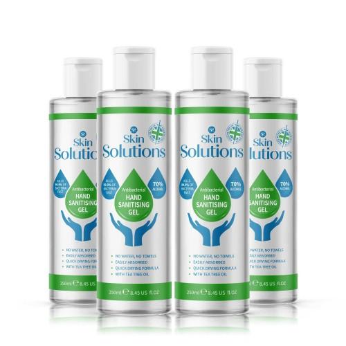 Skin Solutions Viricidal Hand Sanitiser Alcohol Gel 70% 250ml Pump