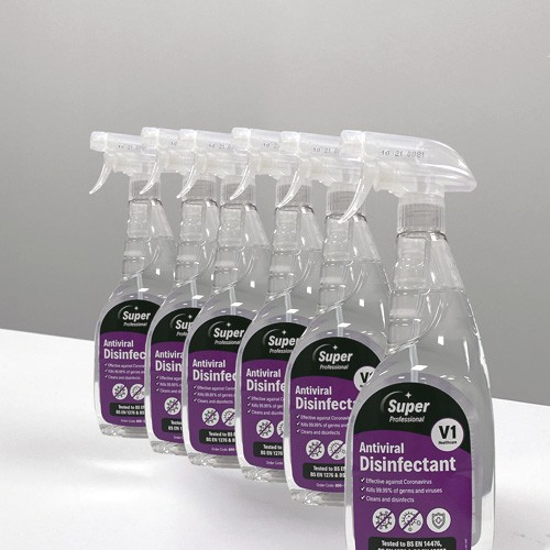V1 Antiviral Disinfectant Spray 6x750ml