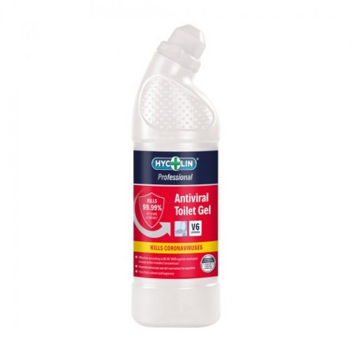 V6 Hycolin Professional Antiviral Toilet Gel (12x750ml) Toilet Cleaner 800-117-1210