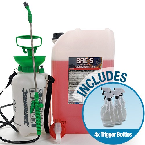 BAC5 Terminal Disinfectant Kit Plus