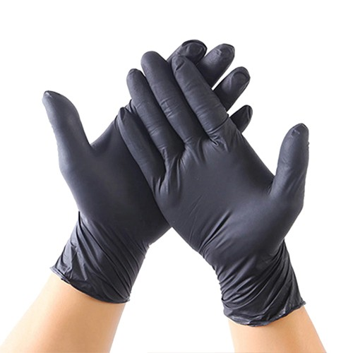 100 x Black Nitrile Powderfree Gloves - XL / Extra Large