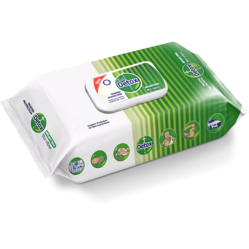 Detox Antibacterial 120 Wipes