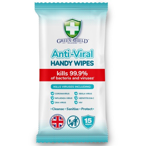 Green Shield Anti Viral Handy Wipes Surface Wipes AO0400369