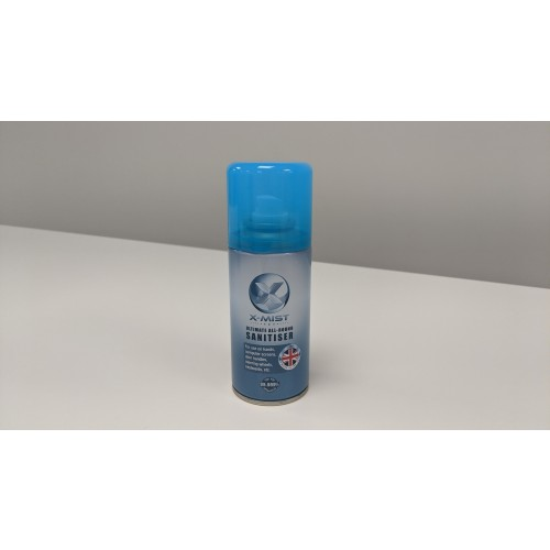 X-Mist Ultimate All Round Sanitiser 125ml can