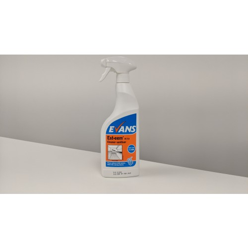 Evans Esteem Odourless Cleaner  Sanitiser 6x750ml