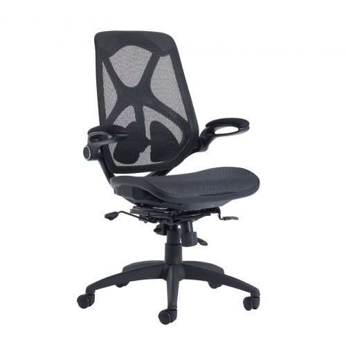 Ex-Display Napier high mesh back operator chair with mesh seat - black Office Chairs NAP300T1-99