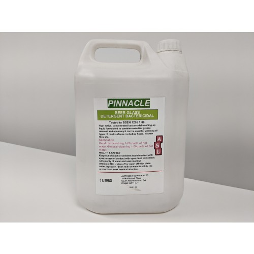 Pinnacle Beer Glass Detergent Bactericidal