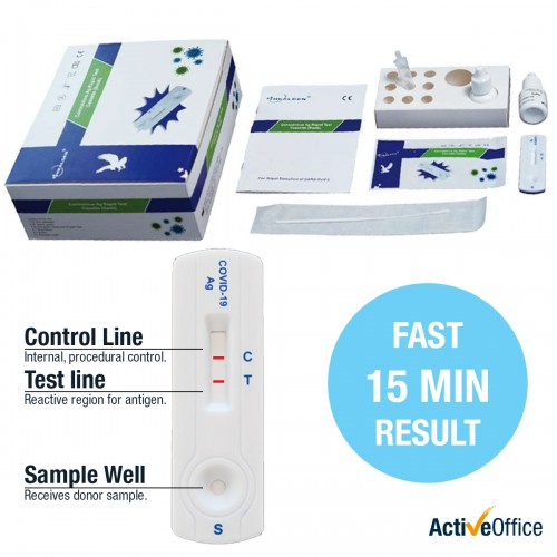 Rapid COVID-19 Antigen Test Kit Includes 20 tests
