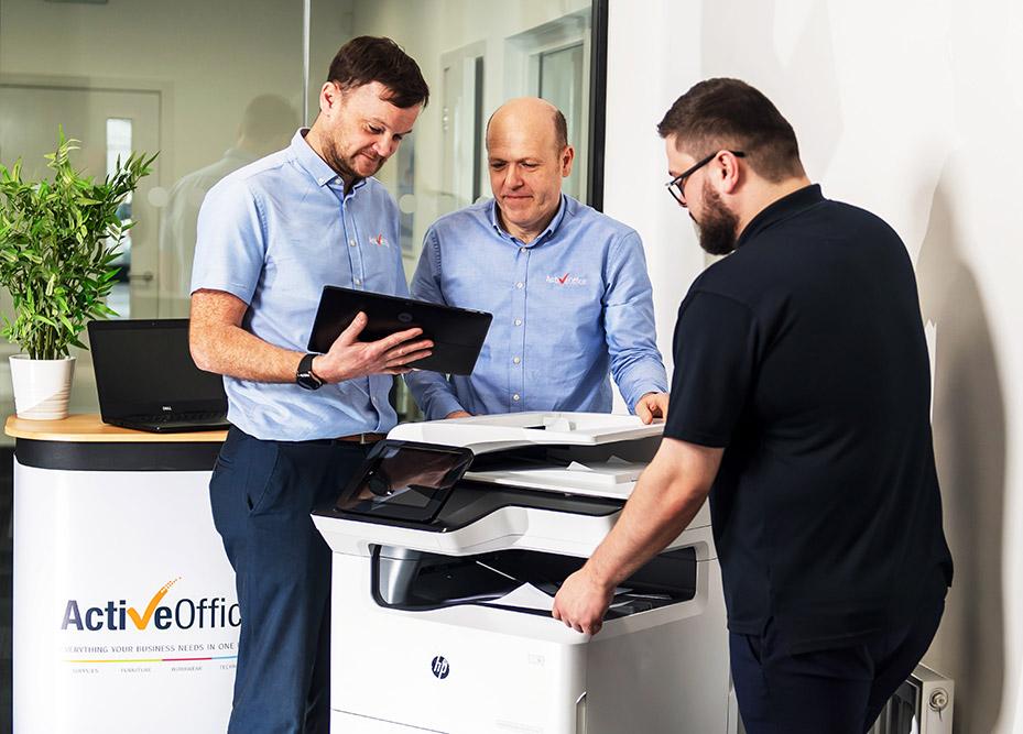 Active Office photo copier demonstration