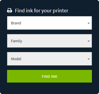 Easily find the correct ink for almost any printer