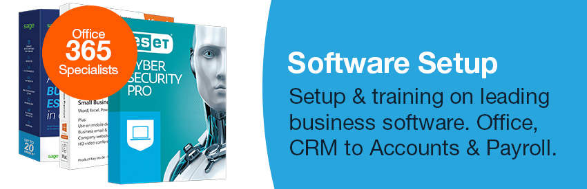 Business software, Office 365, CRM, Payroll Sage Accounts