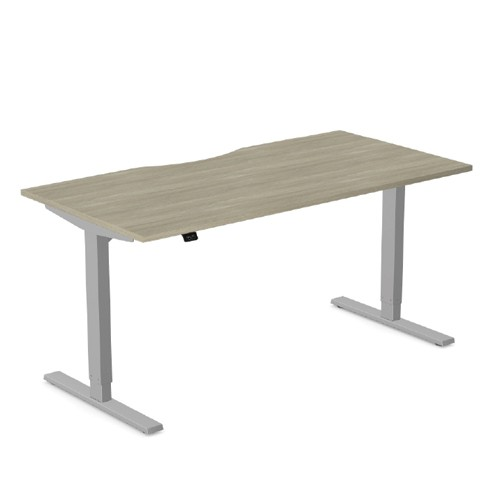 Zoom - Height Adjustable Desk with Scallop Top