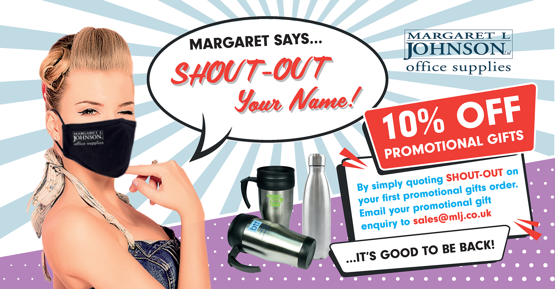 SHOUT-OUT 10% off Promotional Gifts