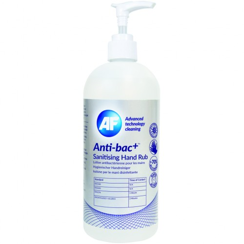AF ~Anti-Bac+ Sanitising Hand Gel 500ml > 70% Alcohol Content