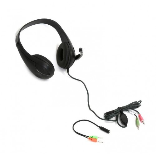 Freestyle PC Headset Plus Mic and Adaptor 2:1 Black FH4008B