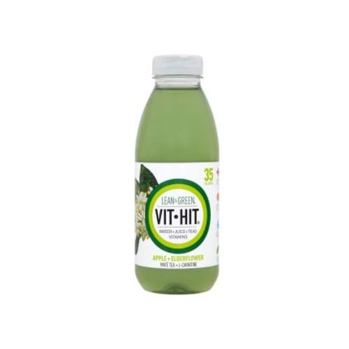 VIT HIT Drink LEAN and GREEN with  Apple and Elderflower 120821 500ml PK12
