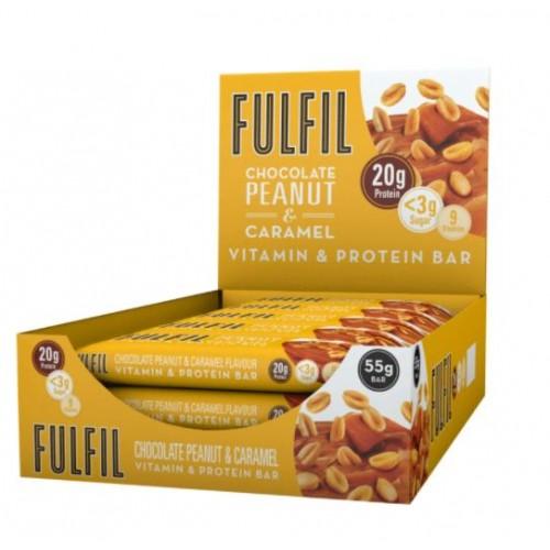 FULFIL Chocolate Peanut & Caramel Vitamin & Protein Bar 55g Pk15