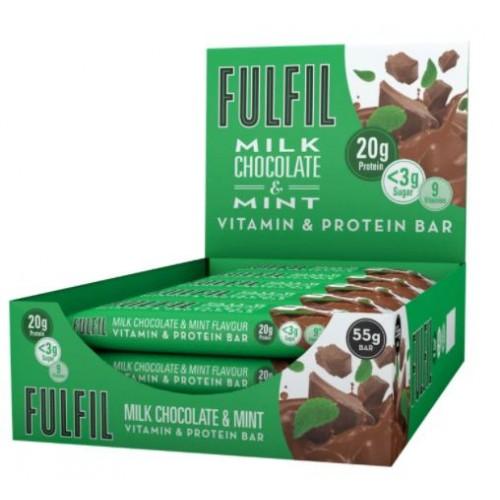 Fulfil Milk Chocolate & Mint Vitamin & Protein Bar 55g PK15