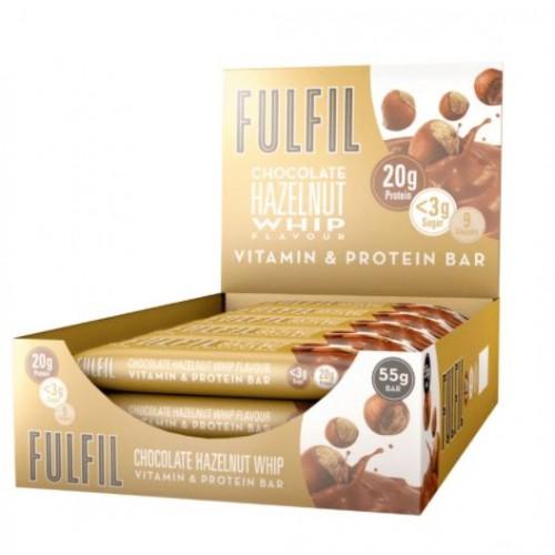 FULFIL Chocolate Hazelnut White Flavour Vitamin & Protein Bar 55g PK15