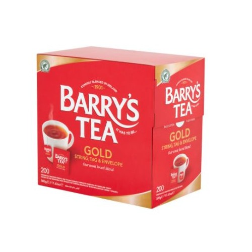 Barrys Gold Blend Tea Bags with String and Envelope Pack 200