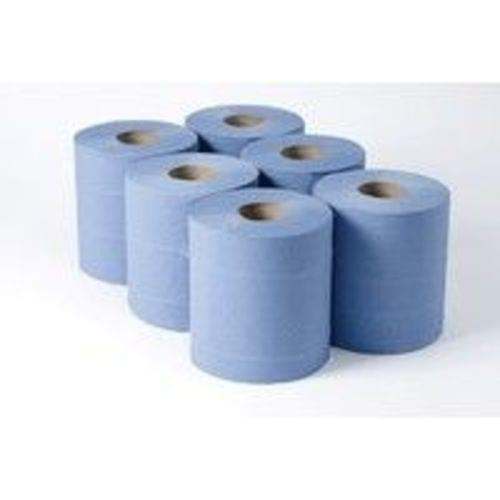 CFEED ROLLS 2PLY EMBOSSED BLUE